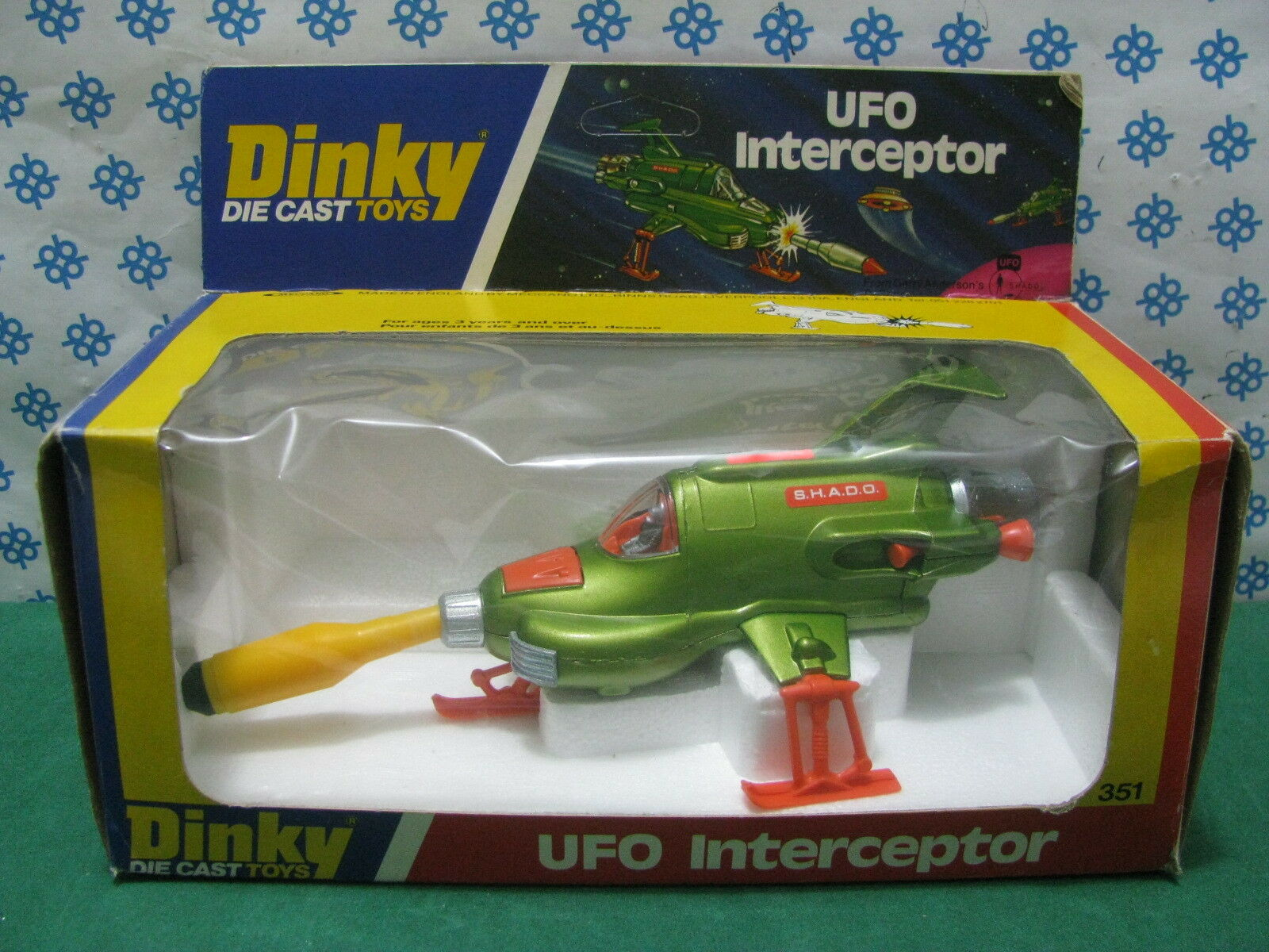 Dinky Toys 351 - U. F.O.Interceptor TV TV TV Series Space 1999 - Mint Boîte c1783e