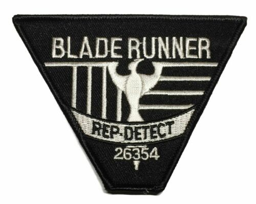 Blade Runner Rep Detect Logo Embroidered Iron on Patch
