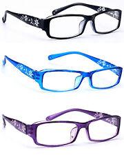 Women READING GLASSES +0.5 +1.0 +2.0 +3.0 Eyeglasses Slim Frame Flowers