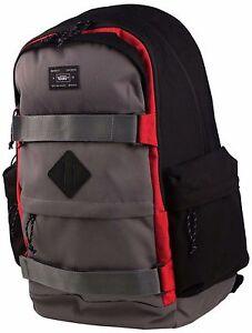 Vans Off The Wall Jetter Skateboard Laptop Backpack Black Gray Red ... 325143937e391