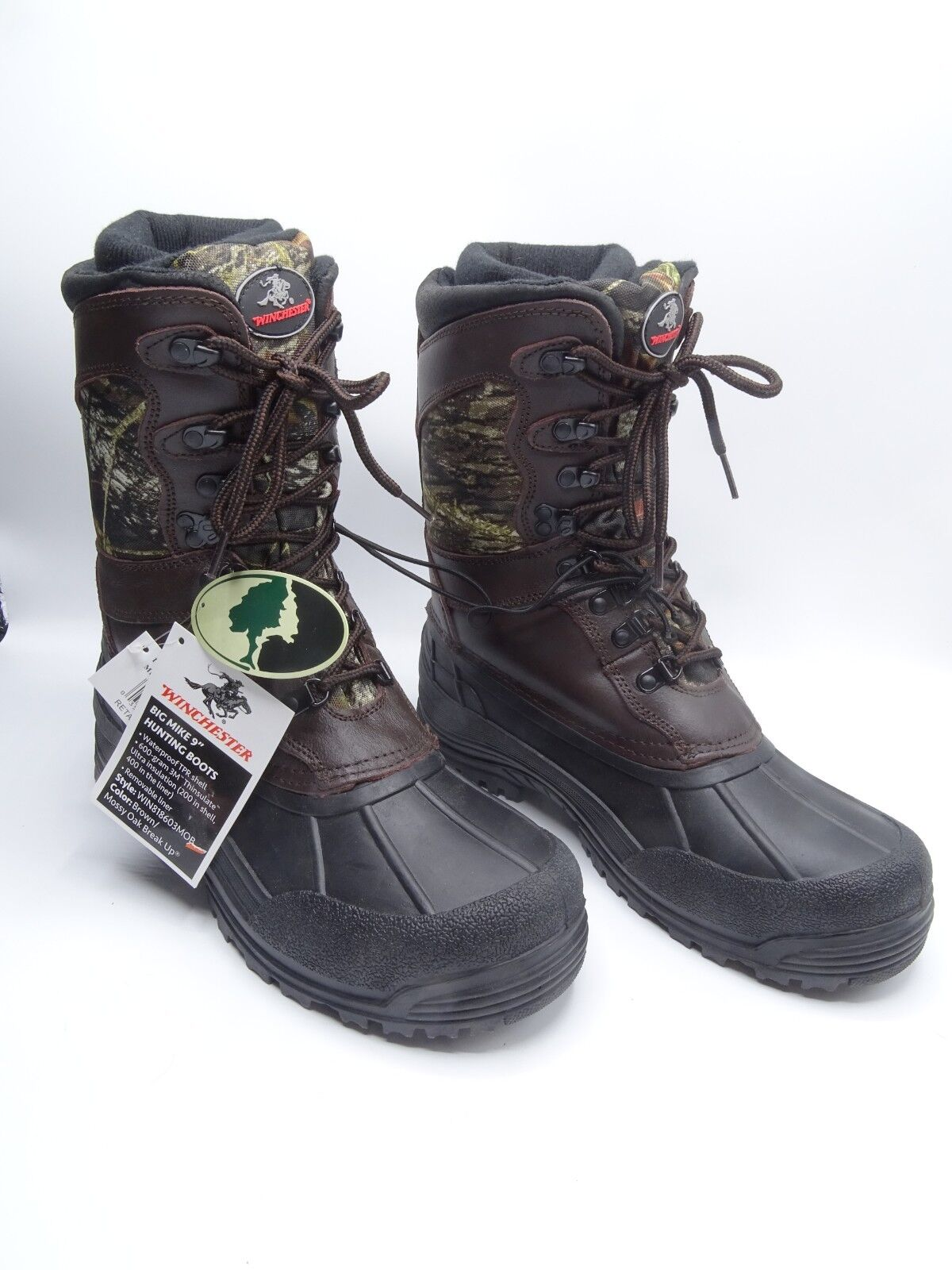 NEW Winchester Mossy Oak Cammo BIG MIKE 9  Insulated Hunting Boots Mens Size 10