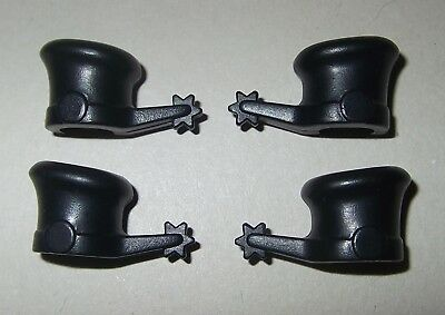 20924, 4x (2 Coppia), Spore Per Cavalieri (vecchia Klicky-gambe), Nero-