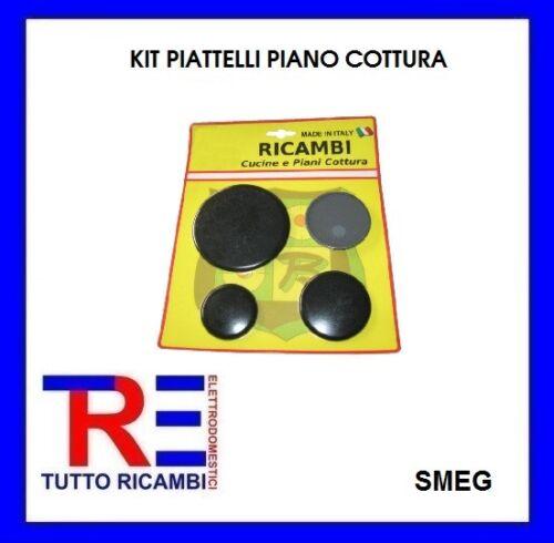 KIT 4 PIATTELLI SPARTIFIAMMA 1 GRANDE 2 MEDI 1 PICCOLO CUCINA PIANO COTTURA SMEG
