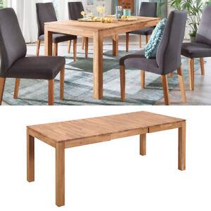Elegant Das Bild Wird Geladen Esstisch Holm Esszimmer Ausziehbarer Tisch  In Wildeiche Massiv
