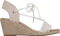Women's Shoes Lucky Brand KASIDEE Espadrille Wedge Sandal Natural Crochet