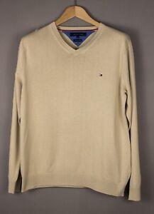 Tommy Hilfiger Hommes Premium Coton Pull Taille L AMZ653