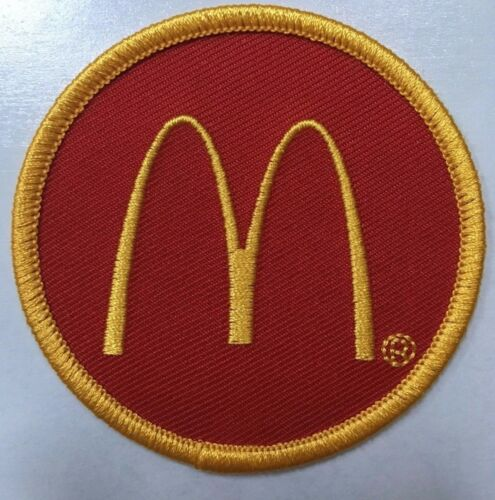 """iron or sew McDonald/'s patch Golden Arches embroidered McDonalds patch 2.5/"""" dia"""