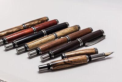 Füllfederhalter F Holz Schaft mit Konverter