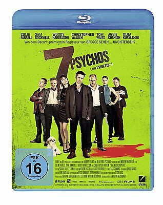 % Blu-ray *  7 PSYCHOS ~ Christopher Walken - Colin Farrell # NEU OVP %