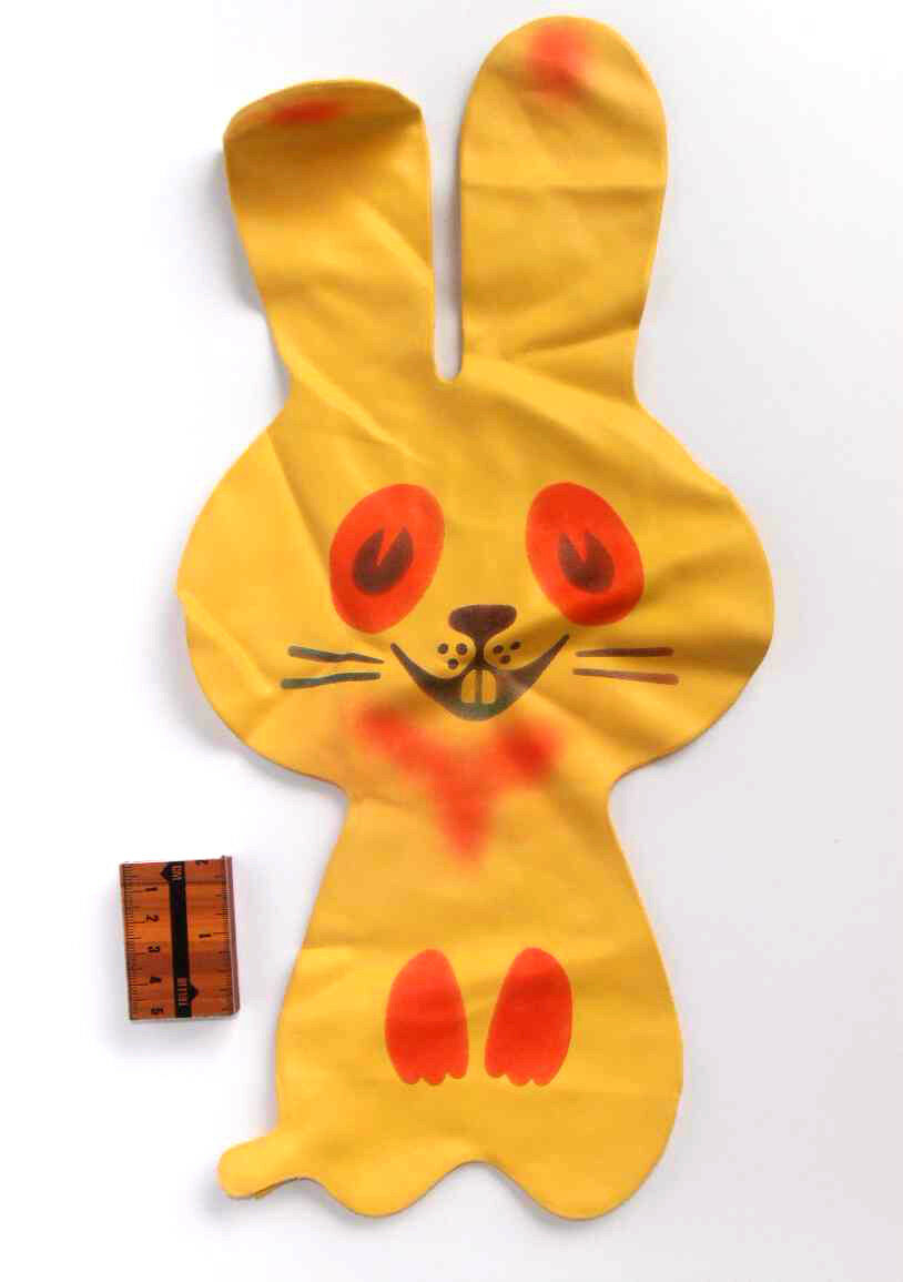 1970s USSR Soviet Estonian INFLATABLE Large Größe Toy RUBBER Cheerful Cheerful Cheerful HARE 1c2b77