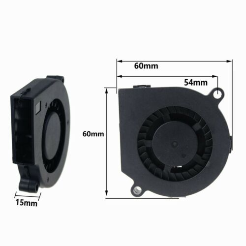5pcs 60x60x15mm 12V Brushless Turbo Centrifugal Blower Cooling Fan 60mm 6cm