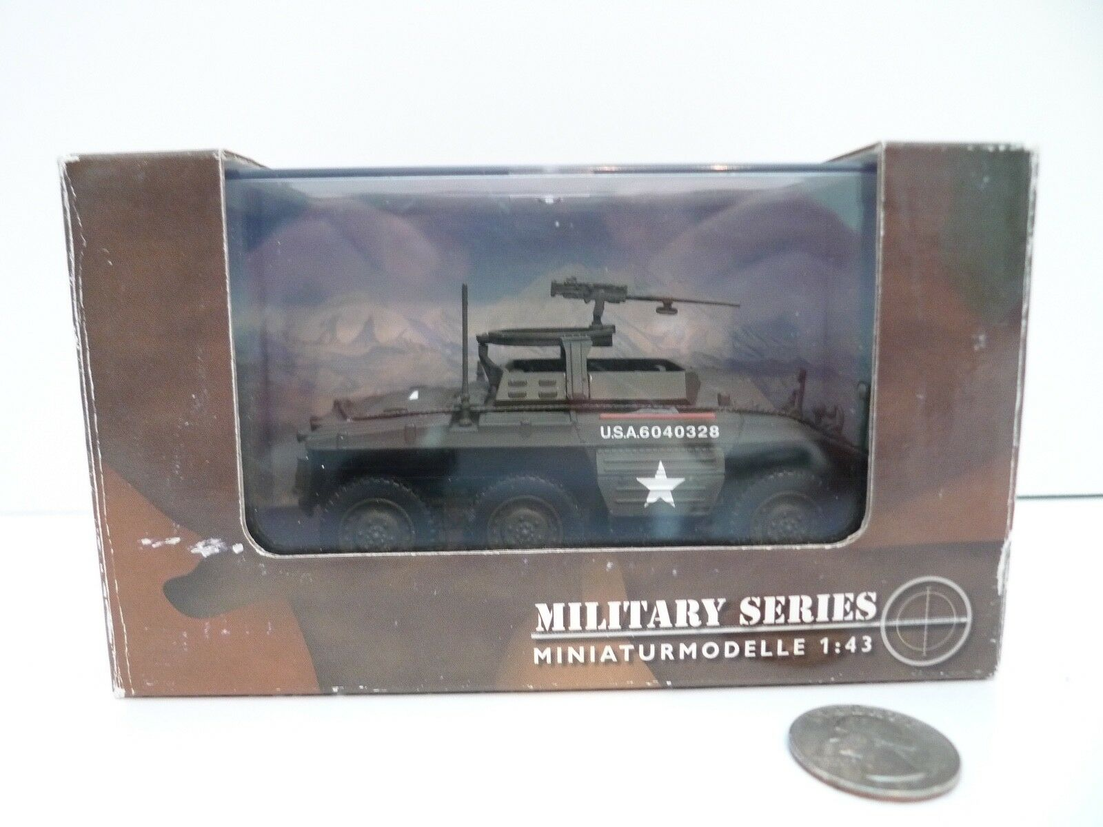 M20 Armored Utility Car 1944 WWII Schuco 1 43 Military Series US Army diecast
