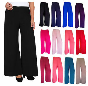 LADIES-PLUS-SIZE-PLAIN-PALAZZO-BAGGY-PANTS-WOMENS-WIDE-LEG-FLARED-TROUSERS-8-26