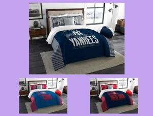 MLB-Licensed-3-Piece-King-Comforter-amp-Sham-Bed-Set-In-A-Bag-Choose-Your-Team