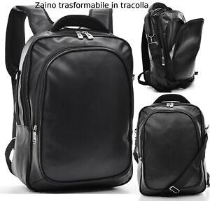 Zaino-Uomo-Pelle-Grande-Lavoro-Porta-Pc-Moda-Viaggio-Multitasche-Comodo-tasche