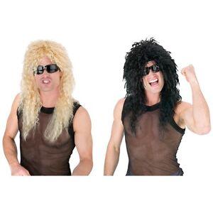 image is loading head banger wig adult 80 039 s rock - 80s Rocker Halloween Costume