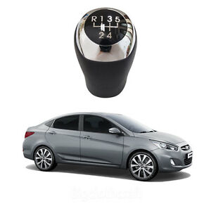 New Manual Leather 5speed Gear Shift Knob For Hyundai