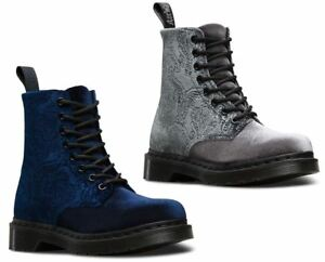 Image is loading Dr-Martens-Unisex-1460-Pascal-Brocade-Velvet-Embossed-