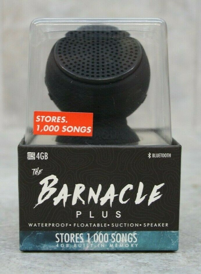 NEW SPEAQUA BARNACLE PLUS WIRELESS SPEAKER 4GB MICROPHONE MANTA RAY BLACK BP1001