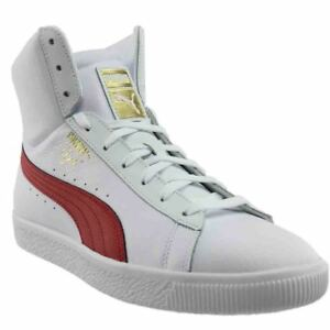 Image is loading Puma-Clyde-Core-Mid-Sneakers-White-Mens 265306936