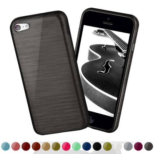 Carcasa de silicona para Apple iPhone 5c brushed Steel Alu look Tpu, estuche, funda protectora, funda, protección