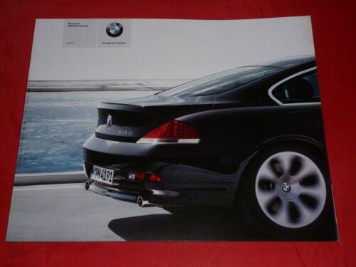 BMW 6er E63 Coupe 645Ci Prospekt Brochure von 2003