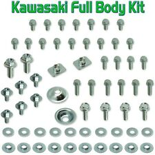 Body Bolt Original Kit Kawasaki KX 100 125 250 500 plastics f&r fenders seat