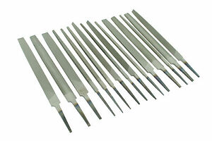 """Set of 15 Engineers Files 6"""" 150mm Bastard 2nd Cut Smooth Various Shapes F9974"""