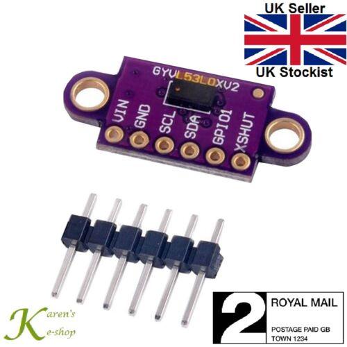 VL53L0X V2 Laser Time-of-Flight Distance Sensor Module Pre-Soldered for Arduino
