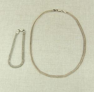 Das Bild wird geladen 925-Silber-Halskette-Armband-Kette-Armbandkette- Schmuck-silver- 5ca154b831