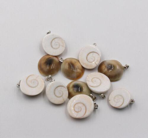 Fashion Natural shell stone pendule Snail Charms Pendentifs 50pcs//lot Wholesale