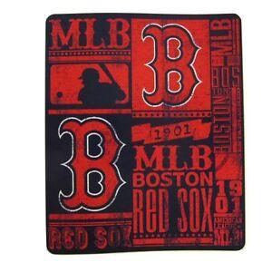 "Boston Red Sox Baseball License Fleece Throw Blanket 50"" x 60"""