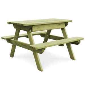 Détails sur vidaXL Table Pique-nique Banc Bois de Pin Imprégné FSC Jardin  Patio Terrasse