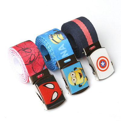 Fashion Kids Cool Casual Canvas Children Adjustable Pants Buckle Boy/'s Gril Belt