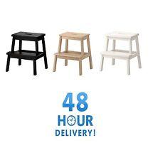 BEKVAM Wooden Step stool Sturdy Wood Ladders Home Shop Bar Kitchen Ladder