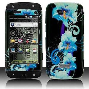 Blue Flower Hard Case Phone Cover T Mobile Sidekick 4g