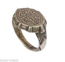 antik massiv islamische Siegelring mit Gravur silber Ring aus Afghanistan Nr:77