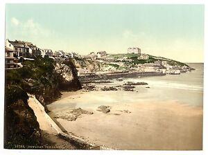 Audacieux 4 Victorien Vues Newquay Beacon Cove Plage Ville Tête Ancienne Photos Posters Remises Vente