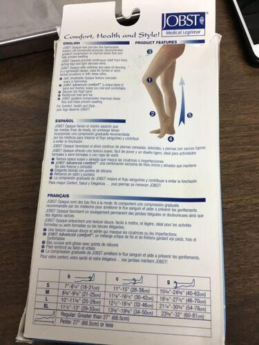 Sz: XL Natural Jobst Opaque 15-20mmHg Thigh High