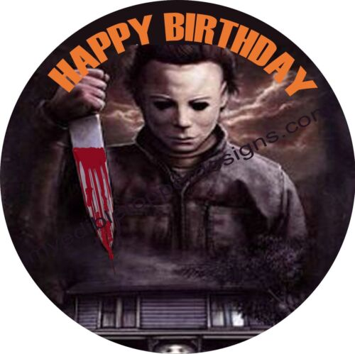 Halloween Michael Myers Personalized Edible Print Cake Topper Sheets 5 Sizes