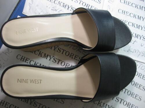 NEW NIB Nine West Confetty Womens Open Toe Leather Wedges Heels Shoes