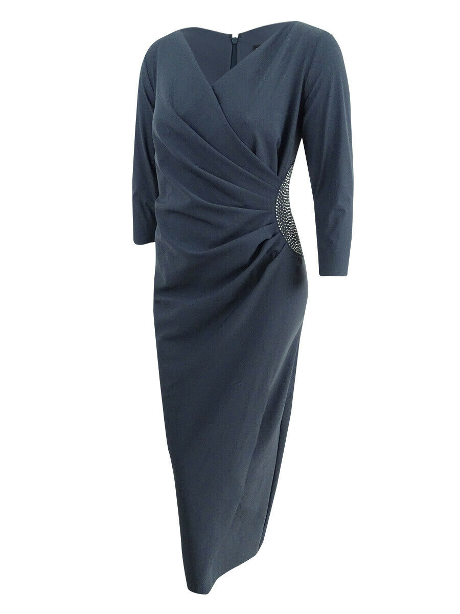 Alex Evenings Woherren Plus Größe Embellished Stretch Gown (24W, Charcoal)