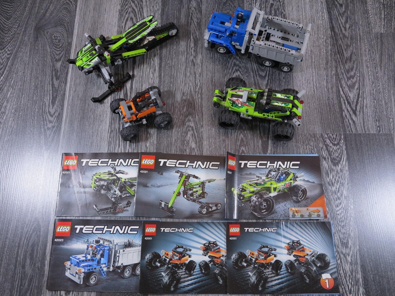 LEGO TECHNIK 42001,42021,42023,42027 Auto Raupe Bagger Schneeraupe, LKW Laster