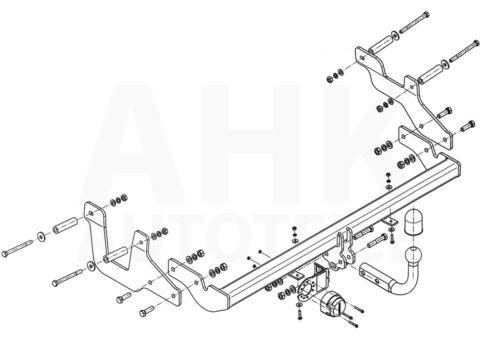 Für Dacia Dokker ab 12 Anhängerkupplung starr+ES 13p uni Kpl AHK