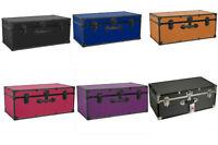 Assorted Colors Storage Trunk Footlocker Travel Organizer Box Dorm Luggage Chest
