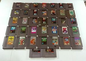 Lot-of-37-NES-SNES-Games-Untested-Mario-Mike-Tyson-Ninja-Turtles-Nintendo