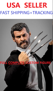 Custom-1-6-scale-Logan-Wolverine-full-complete-figure-black-suit-set-w-Claws