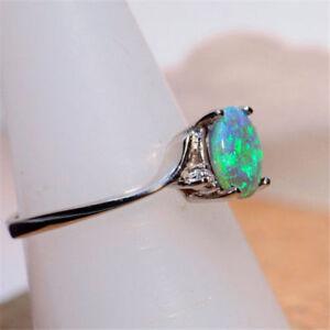 Vintage-Green-Fire-Opal-Gems-925-Silver-Wedding-Engagement-Ring-Women-Jewelry