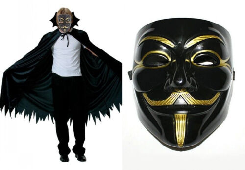 V for Vendetta Mask Anonymous Guy Fawkes Fancy Dress Fancy Costume Cosplay HOT