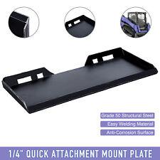 14 Steel Quick Attachment Mount Plate For Bobcat Kubota Skidsteer Tractor